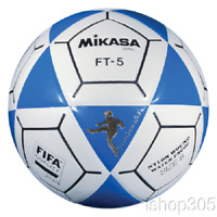 Mikasa FT5 Goal Master Soccer Ball Size 5 White/Blue Official Footvolley Ball