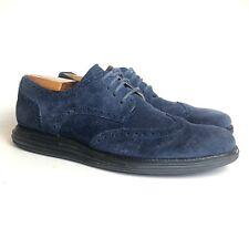 COLE HAAN | Lunargrand Blue Suede Leather Lace up Wingtip Air Oxford | Men's 9.5