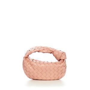 BOTTEGA VENETA 1900$ Mini Jodie Boho Bag In Peachy Intrecciato Nappa Leather