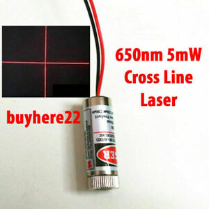 Focusable 5mW 650nm Red Cross Line Laser Module Focus Adjustable laser Head UK