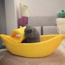 Cute Dog Bed House Pet Banana Bed Soft Cat Cuddle Bed Warm Pet Cushion Supplies