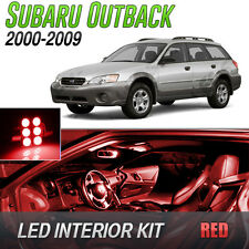 2000-2009 Subaru Outback Red LED Lights Interior Kit