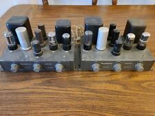 New listing Heathkit A-7 mono tube amplifier pair with manual