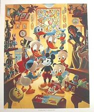 Beautiful 1990s Carl Barks/DISNEY Duck Print-In Uncle Waly's Collectery (C1338)