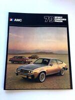 1979 AMC American Motors 24-page Car Sales Brochure - Pacer AMX Concord Spirit