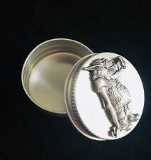 HARLEY-DAVIDSON MOTORCYCLE HOG HEAD BIKER PEWTER SILVER PILL BOX