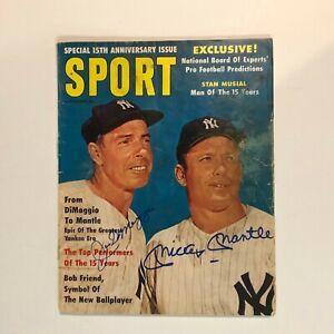Mickey Mantle & Joe DiMaggio Hand Signed 1961 Sport Magazine