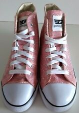 GOLDDIGGA Pink Glitter Sparkle Hi-Top Baseball Boots Pumps Shoes Size 5 (38)