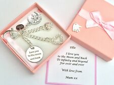 Love You to The Moon and Back Personalised Gift Handbag Charm Girlfriend Mum