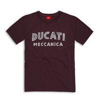 DUCATI Ducatiana MECCANICA kurzarm T-Shirt Retro aubergine NEU !!
