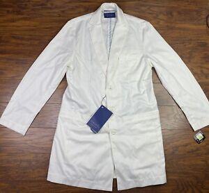 Medelita Lab Coat 40 Mens Retail 144.00 White A1