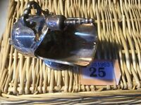 Good Quality ORNATE ANTIQUE SILVER PLATED SALT SCUTTLE WITH  SCOOP EPNS
