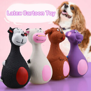 Puppy Dog Toy Animal Shape Latex Chew Squeaker Squeaky Sound Playing `hw