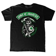 Sons of Anarchy Green Patch Irland Chapter Grim Reaper Shamrock Männer T-Shirt