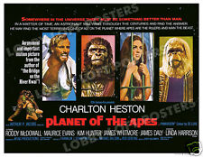 PLANET OF THE APES LOBBY CARD POSTER 1968 BQ CHARLTON HESTON RODDY McDOWALL