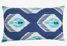 Katrea Hand Print Ikat Blue Pillow Cover