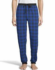 Hanes Jogger Pants Plaid Thermal Waffle Knit ComfortSoft waist pockets Men Draw