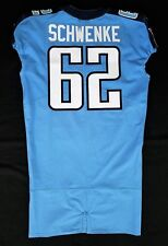 #62 Brian Schwenke Authentic Nike Tennessee Titans Game Issued Jersey