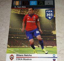 CARD ADRENALYN FIFA 365 CALCIATORI PANINI CSKA NATCHO CALCIO