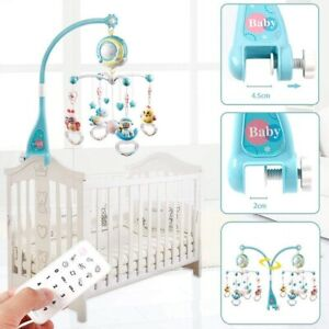 KID TOY SONG BED BELL CRIB MUSICAL MOBILE COT NIGHT LIGHT BABY RATTLES MUSIC BOX