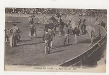 Corrida de Toros Suerte de Varas Spain Vintage Postcard 480a