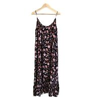 Ell Collection Ladies Maxi Dress Size Large 100% Rayon Floral Adjust Straps