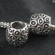925 Sterling Silver Tribe Design European Bead Charm / Spacer 3.6g, 10mm EB0143