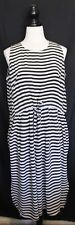 búl BUL ~ Melbourne Design Black White Striped Silk Sleeveless Dress w Shift 10