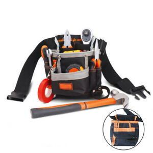 7-Pocket Holster Storage Holder Electrician Tool Pouch Belt Waist Bag Supplies
