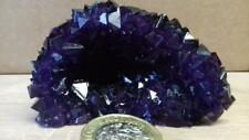 Tschermigite Geode Mini Cave - Deep Purple Crystals - Ammonium Alum