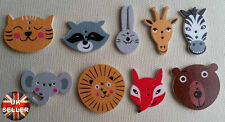Kids Sewing BU1141 15 Wooden Cartoon Painted Cat Painted Buttons Craft