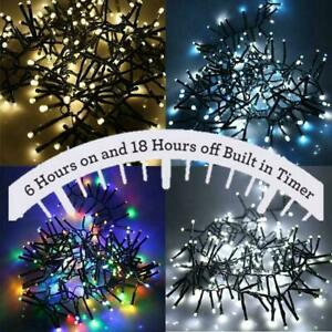 LED Cluster Fairy String 240 480 720 960 2000 Mains Indoor Outdoor Lights Xmas