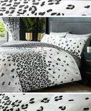 Leopard print duvet cover sets grey black & white bedding