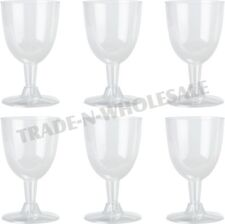 DISPOSABLE WINE GLASSES, PLASTIC, PARTY, COCKTAIL, WEDDING GOBLET, GLASS, CUPS