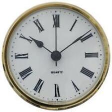 85mm Clock Suitable for Caravans Motorhomes & Boats white Roman dial brass bezel