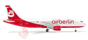 Herpa Deutsche Air Berlin A320 1:500 Diecast Commercial Plane Model 508254