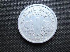 1 Franc aluminium Bazor Etat Français 1942  TB +