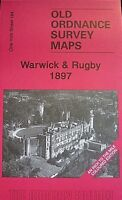 OLD ORDNANCE SURVEY MAPS WARWICK RUGBY AREA & MAP SOUTHAM 1897 Godfrey Edition
