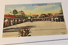 Vtg Postcard FL Clearwater Shuffle-Board Club Circa 1940's Linen
