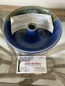 HICKORY FLATS POTTERY ROLL BAKER BLUE STONEWARE Cindy Angliss