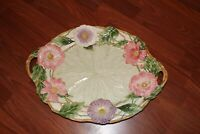 """Fitz And Floyd Serving Platter Fauna And Flora  Open Handle 19-1/2"""" X 14"""""""