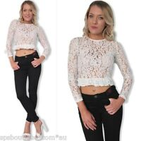 sale forever hot BOHEMIAN FESTIVAL FLORAL LACE  CROP TOP 6 8 10 12 new