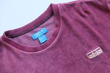 Adidas Originales Sudadera de cuello redondo Velour Terciopelo Superior L Granate Suéter Trébol 2016