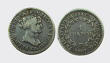 LUCCA - FELICE BACIOCCHI 1805-1814 -AG/ 1 FRANCO 1807