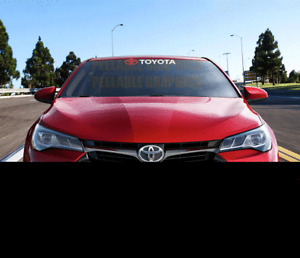 "TOYOTA Windshield Banner Decal 23"" Sticker TRD Corolla Camry Tundra Celica"