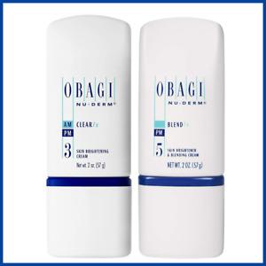 Obagi Medical Nu-Derm Blend Fx + Clear Fx 2 oz Bundle