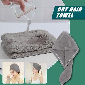 Quick Hair Drying Towel Microfibre Hair Wrap Super Absorbent Shower Turban Towel