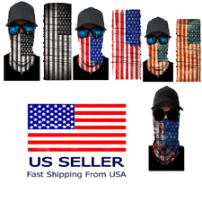 Uv Face Protection Headwear Fishing Gator Bandana Neck Covering Hunting Usa Flag
