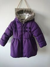 Bluezoo girl padded fleece lined jacket coat 3-4 years excellent condition