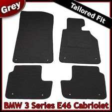BMW 3-Series E46 Convertible 1998-2006 a medida Alfombras coche Tapetes Gris